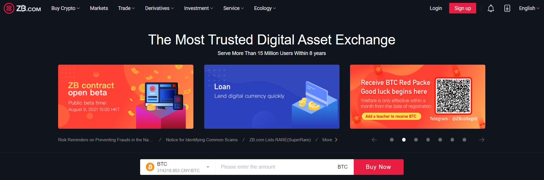 ZB Exchange ranks first among all online AXS exchanges